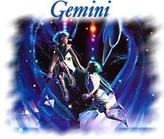 Romantic representation of the zodiac sign Gemini