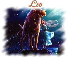Romantic representation of the zodiac sign Leo
