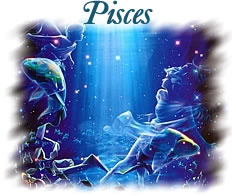 Romantic representation of the zodiac sign Pisces