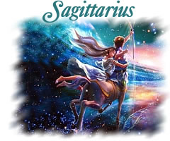 Romantic representation of the zodiac sign Sagittarius