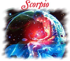 Romantic representation of the zodiac sign Scorpio