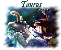 Romantic representation of the zodiac sign Taurus